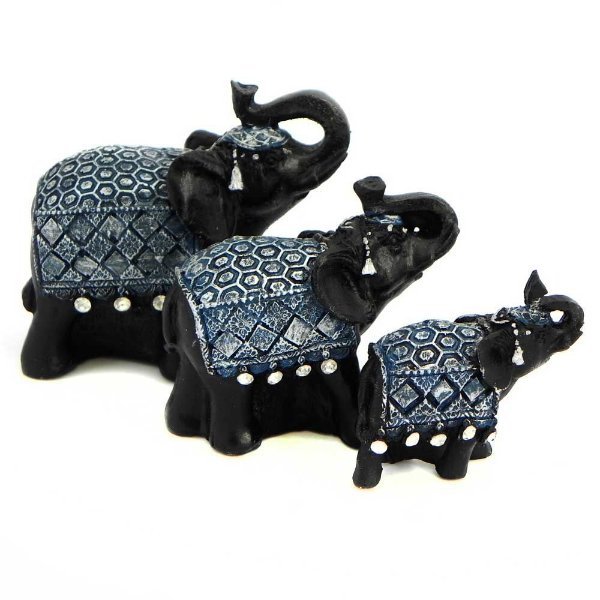 Trio de Elefantes com Strass