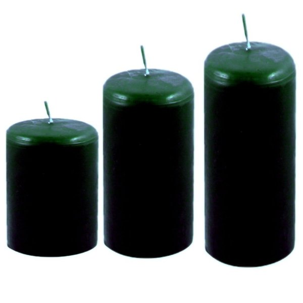 Kit com 3 velas decoração Verdes