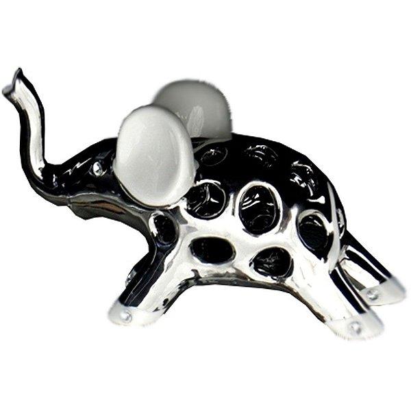 Elefante Espelhado de Cerâmica