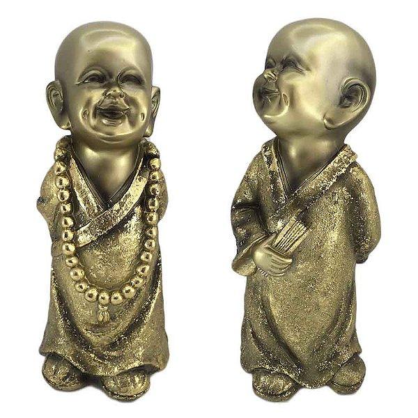 Monge em Resina - Dourado