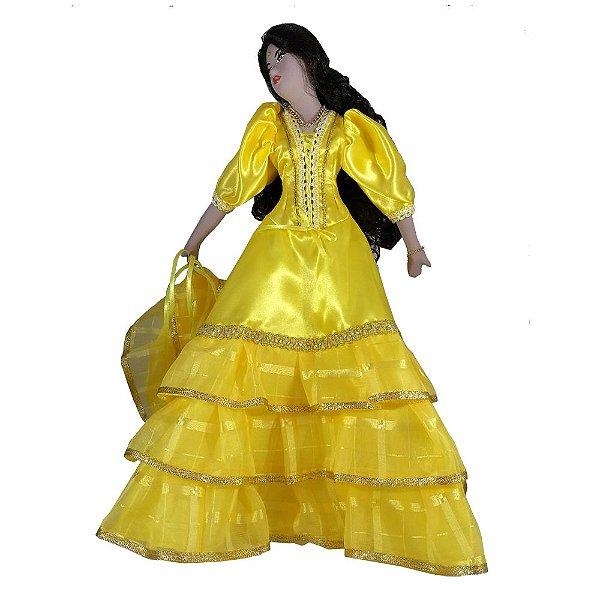 Cigana de Cerâmica com a roupa Amarela