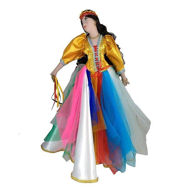 Cigana de Cerâmica com a roupa 7 Véus