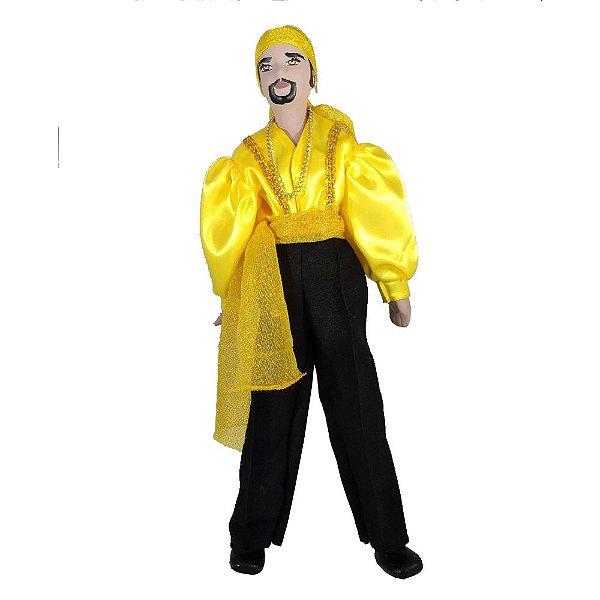 Cigano de Cerâmica com a roupa Amarela