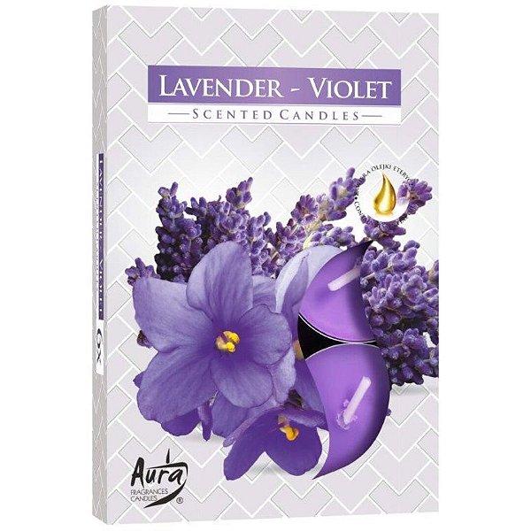 Vela T'Light Aroma Lavanda e Violeta