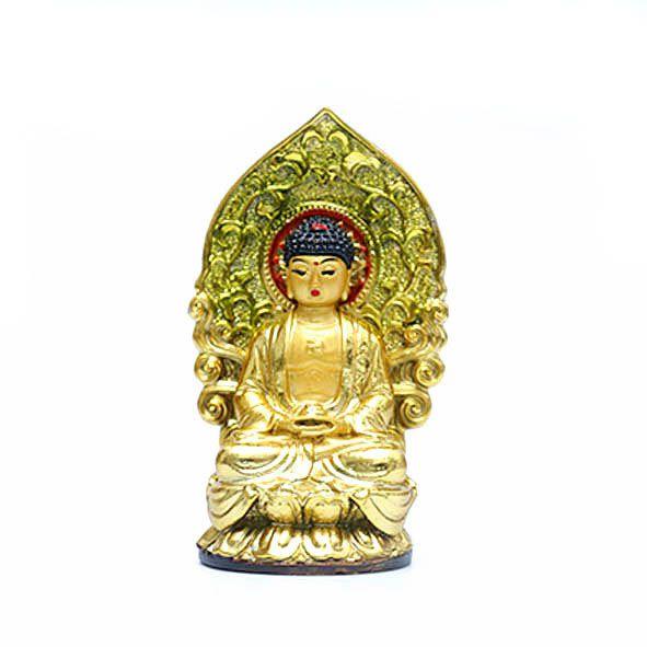 Estatueta Buda Dourado - P