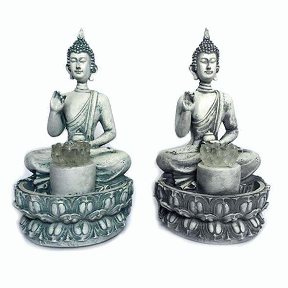 Fonte Buda Tailandês na Flor De Lótus