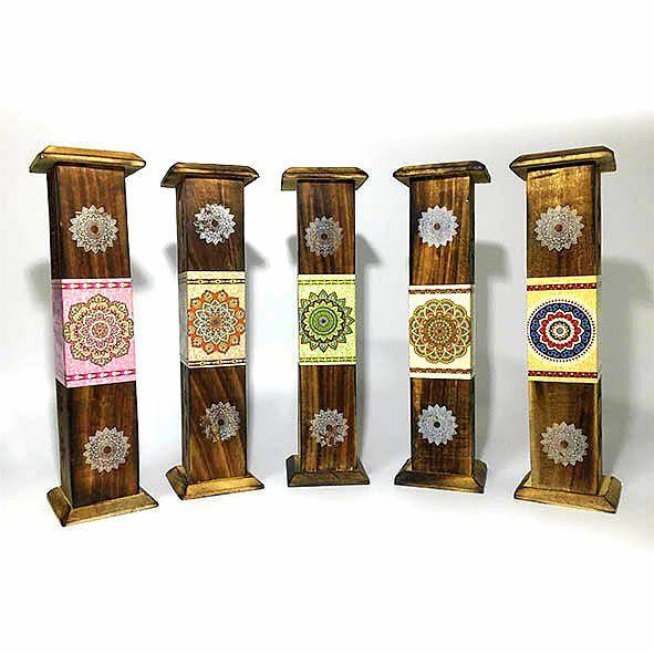 Incensário Torre com Incenso Karma - Diversos Aromas