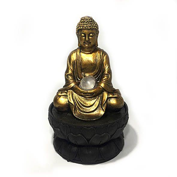 Fonte Buda Hindu na Flor de Lótus - P