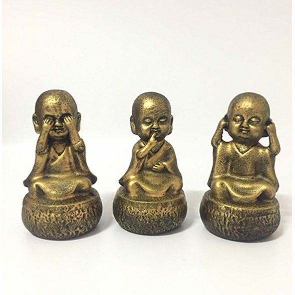 Trio de Budas Não Ouve, Não Fala, Não vê - P