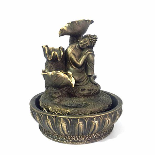 Fonte Buda Sentado Dourada