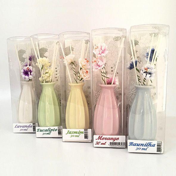 Aromatizador de Ambiente Vaso com Flores - Diversos Aromas