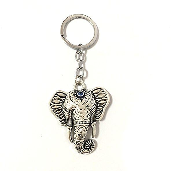 Chaveiro Cabeça de Elefante com Olho Grego
