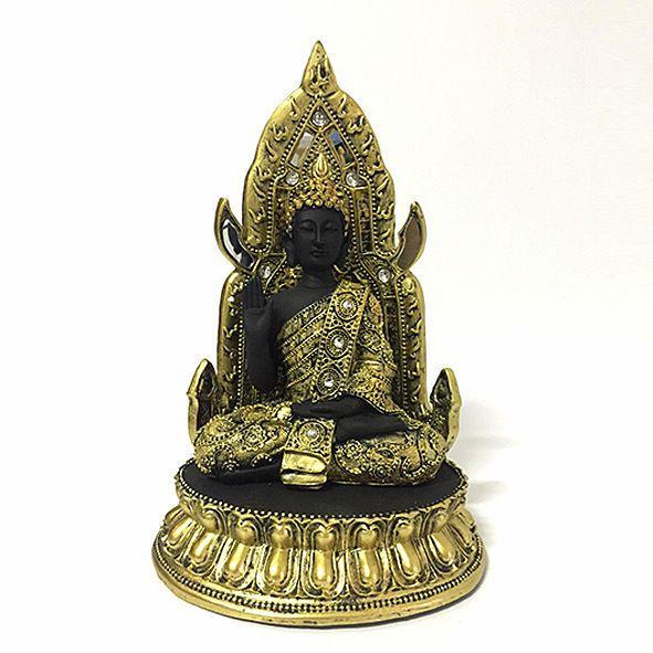 Buda Tibetano Meditando Trono - G
