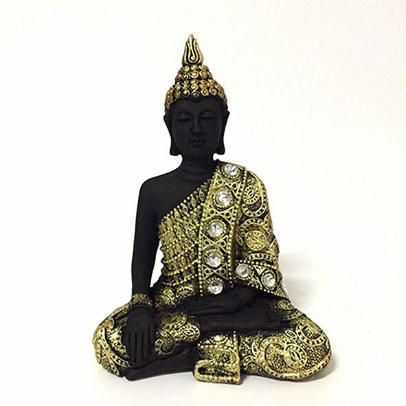 Estatueta Buda Tibetano Meditando - P