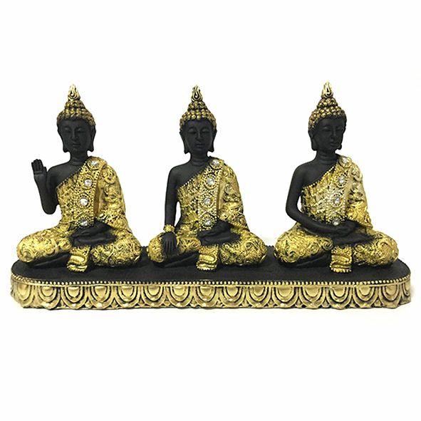 Trio de Budas Tibetano Meditando