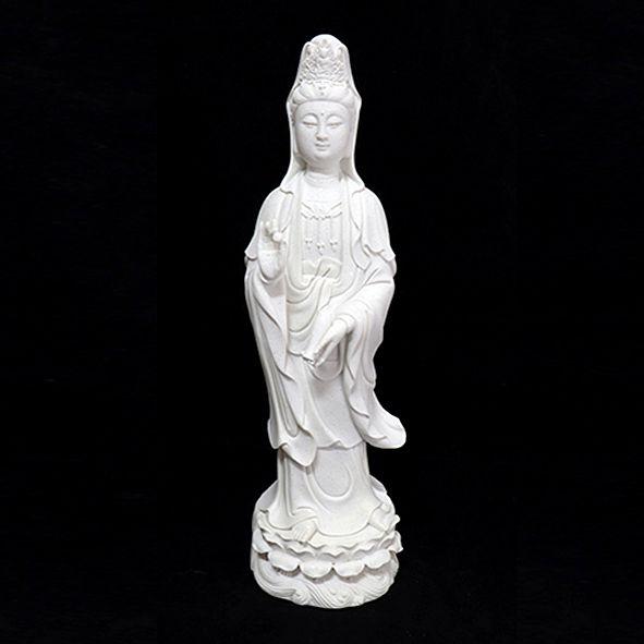 Estatueta Kuan Yin Branca Modelo 1