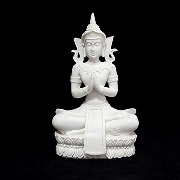 Buda Pequeno Meditando Branco