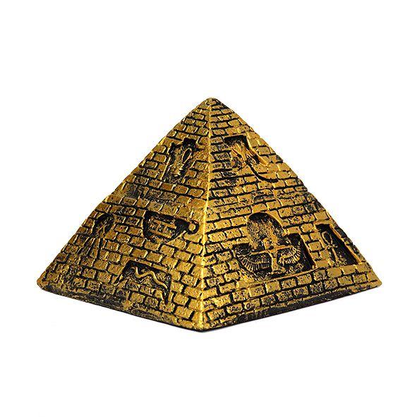 Pirâmide Egípcia Tijolinho Dourada