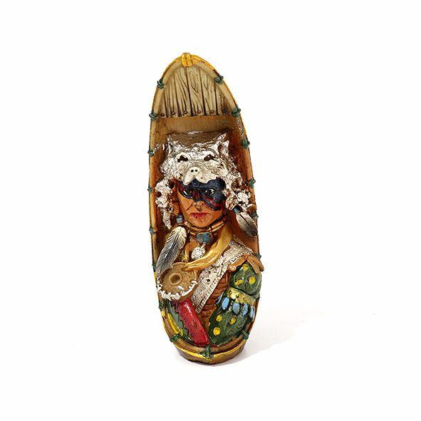Índio no Barco - P