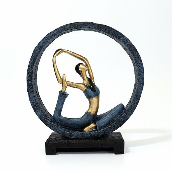 Estatueta Yoga Posição Sereia no Arco