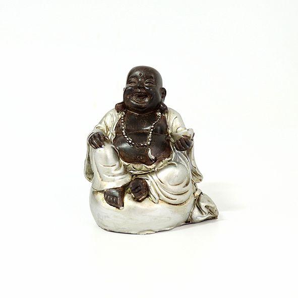 Buda da Fortuna Sorridente Prata 