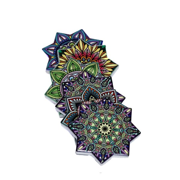 Imã de Mandala em Cerâmica