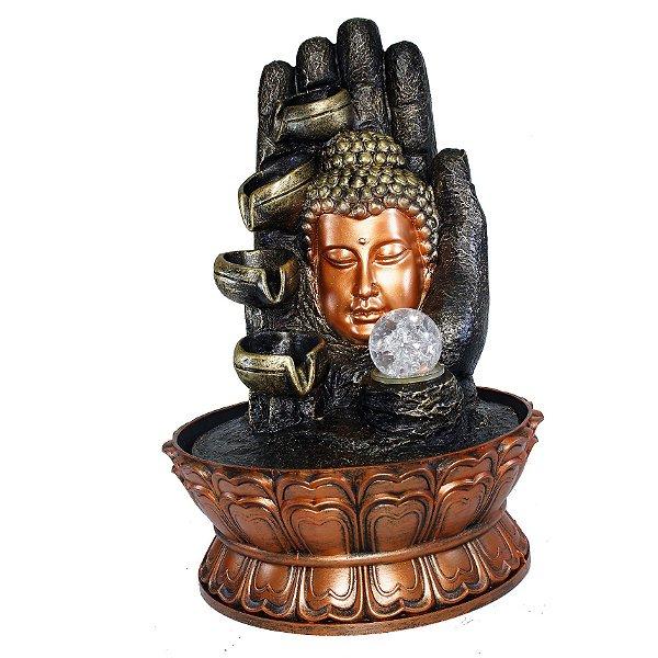 Fonte Cabeça de Buda na Mão 4 Quedas