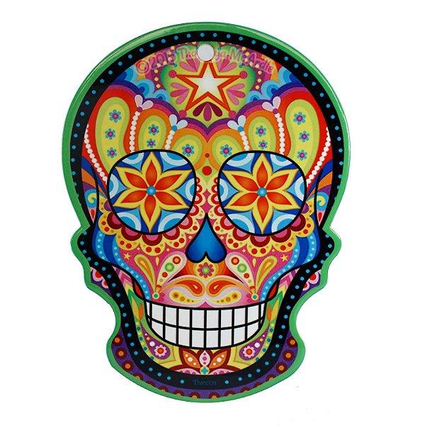 Quadro de Caveira Mexicana em Cerâmica para Parede