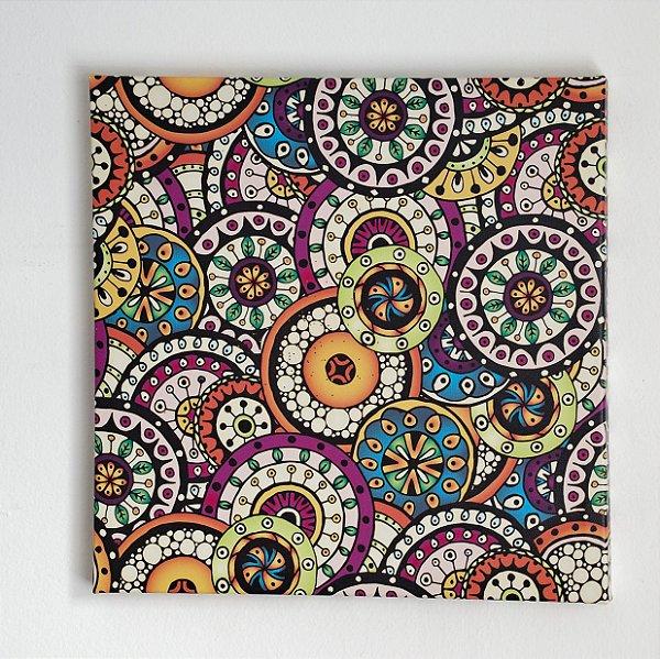 Quadro Colorido Decorativo Modelos Variados 40x40 Cm