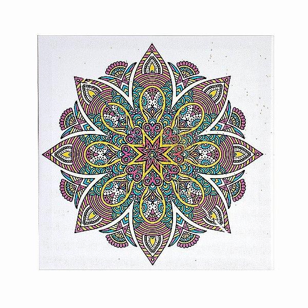 Quadro Mandala Decorativo Modelos Variados 30x30 Cm