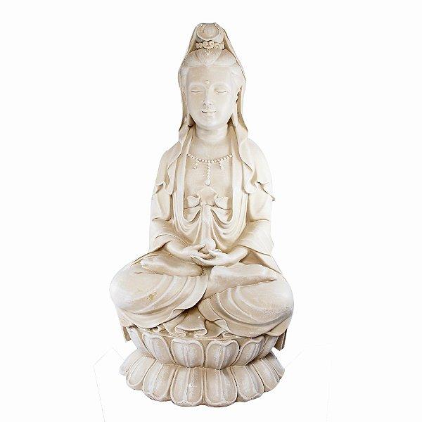 Estatueta Kuan Yin Bege