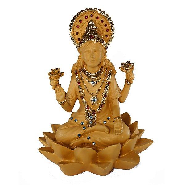 Estatueta Lakshmi Dourada