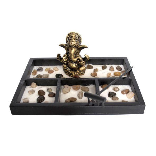 Jardim Zen Ganesha Dourado