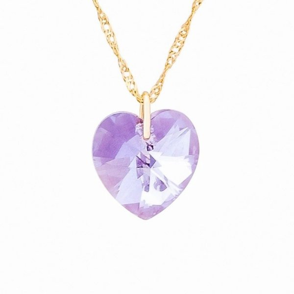 Gargantilha Coração Violet 10mm
