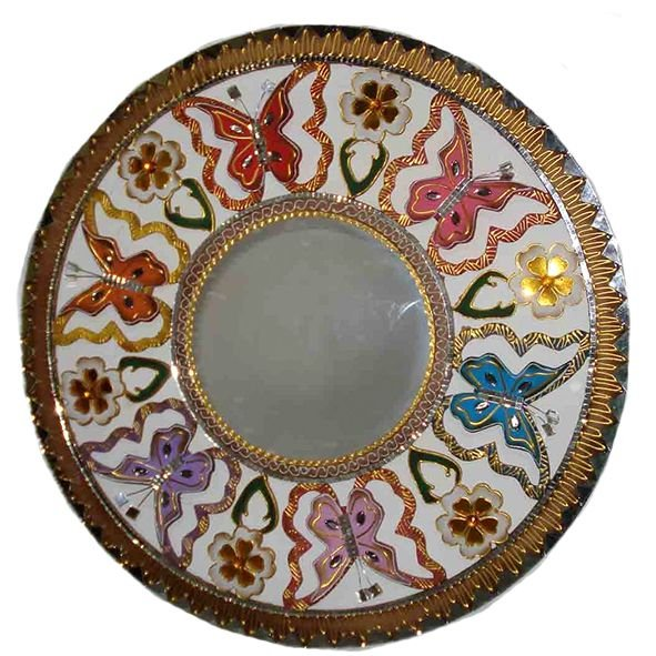 Mandala Borboleta Vazada com Espelho - MDF