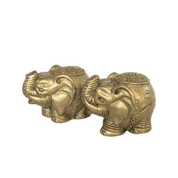 Dupla de Elefante Dourado