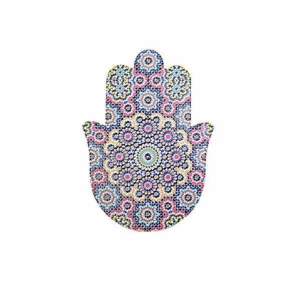 Quadro de Mesa e Parede Mão Hamsá Mandala