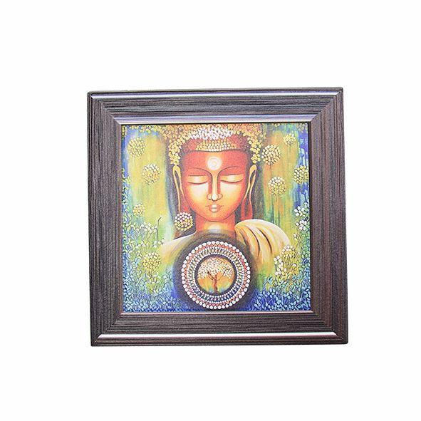 Quadro de Mesa e Parede Buda em Cerâmica