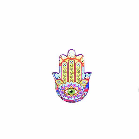 Imã Mão Hamsá em Cerâmica com 12 Unidades