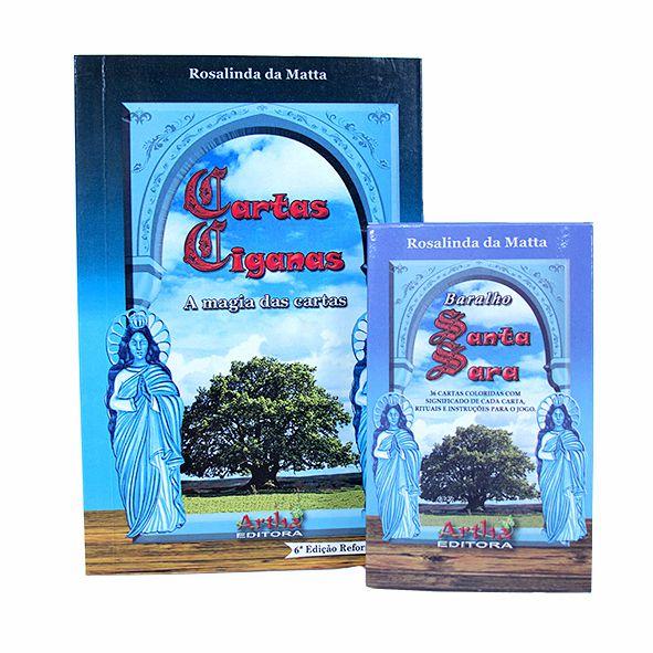 Box - Livro Cartas Ciganas e Baralho Santa Sara