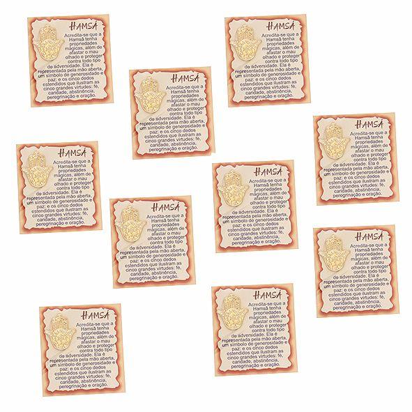 Amuleto Hamsá - Pacote com 10