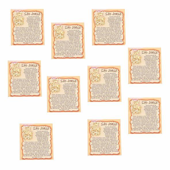 Amuleto São jorge - Pacote com 10