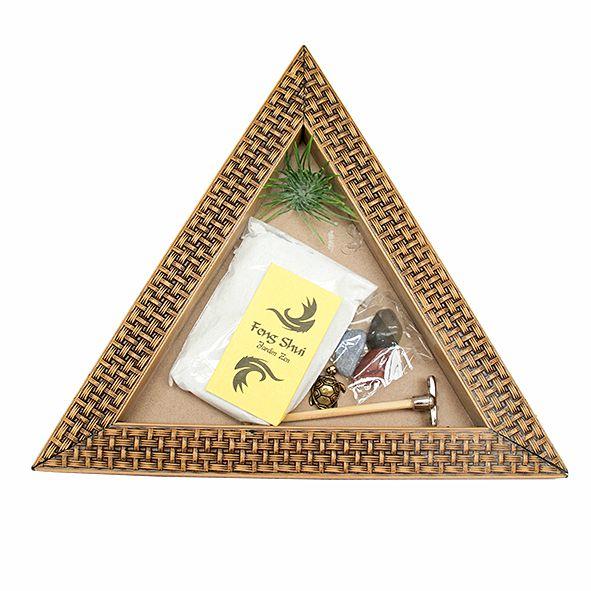 Jardim Zen Triângulo Trançado