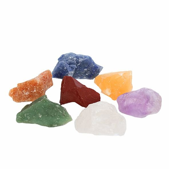 Kit Pedras dos 7 Chakras - Bruta