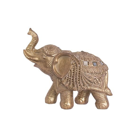 Elefante Dourado com Strass - P