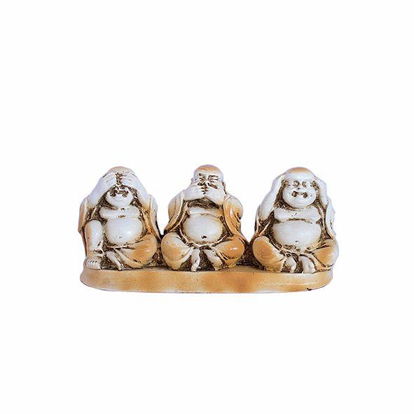 Trio de Budas Não Vê, Não Fala, Não Ouve