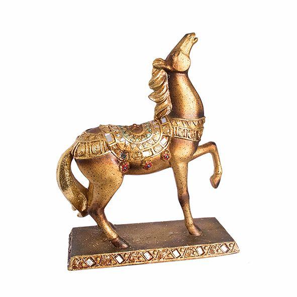 Cavalo Dourado com Strass