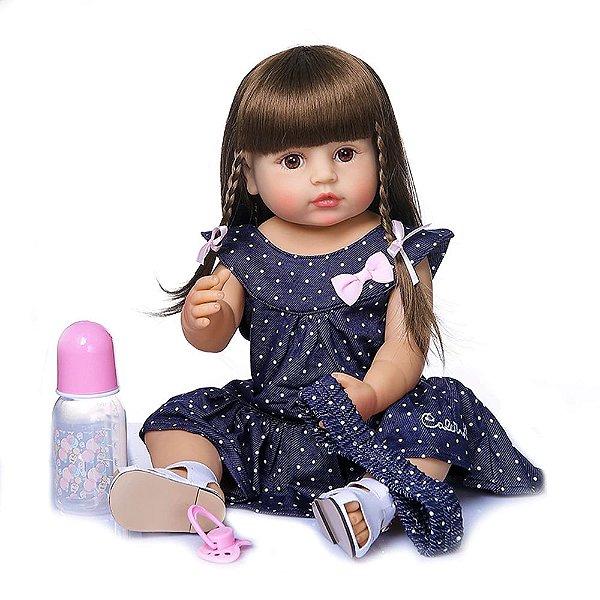 Bebê Reborn de Silicone Realista 55 cm Talita