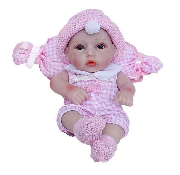 Mini Bebê Reborn de Silicone Denguinho