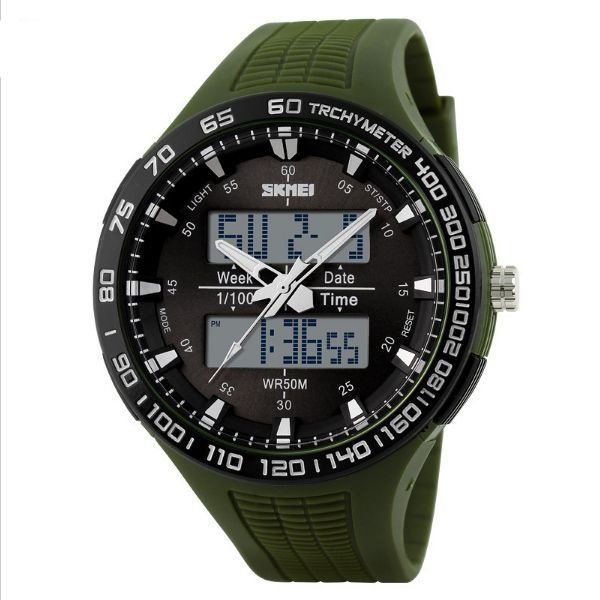 Relógio Masculino Skmei Anadigi 1066 VD-PT